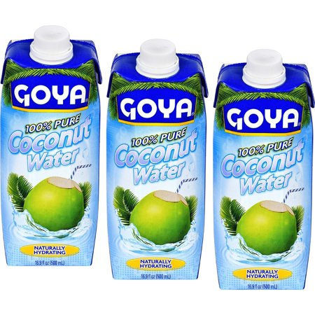 0653801964417 - COCONUT WATER 100% PURE BY GOYA (AGUA DE COCO) 16.9 OZ PACK OF 3