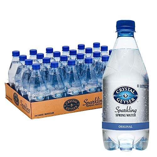 0654871182411 - CRYSTAL GEYSER 18 OZ ORIGINAL SPARKLING SPRING WATER 24 PACK, PET PLASTIC BOTTLES, ZERO CALORIE, NO ARTIFICIAL INGREDIENTS OR SWEETENERS