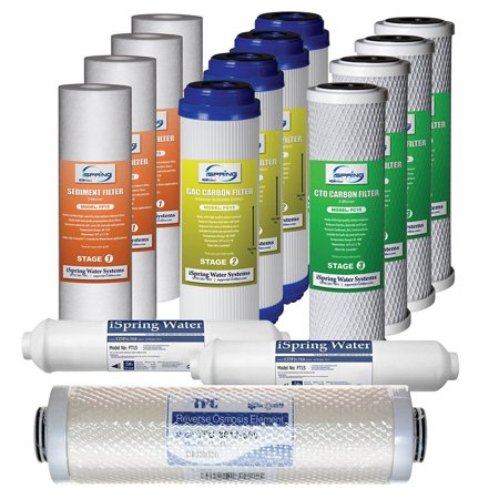 0662425077854 - ISPRING #F15-500, 500 GPD TANKLESS RO SYSTEM REPLACEMENT FILTER SET, 2-YEAR SUPPLY, FITS RCS5T