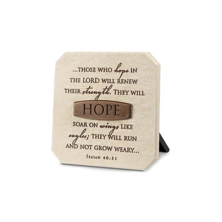 0667665116332 - LIGHTHOUSE CHRISTIAN PRODUCTS HOPE TITLE BAR PLAQUE, 3 3/4 X 3 3/4, BRONZE