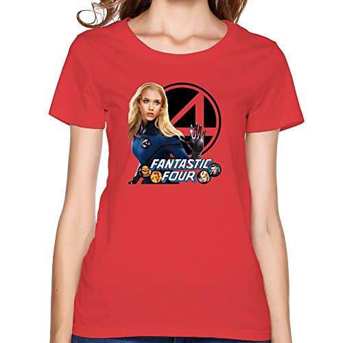 6698439199781 - NOVELTY DESIGN WOMEN THE FANTASTIC FOUR 2015 TSHIRTS SIZE L RED