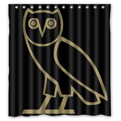 OVO BIRD OWL PATTERN CUSTOM CREATE DESIGN YOUR OWN WATERPROOF SHOWER