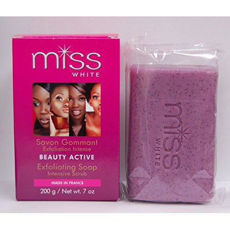 0682500721106 - FAIR & WHITE MISS WHITE BEAUTY ACTIVE EXFOLIATING SOAP 7 OZ. (PACK OF 2)