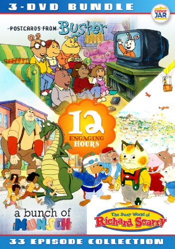 0683904525765 - EDUTAINMENT BUNDLE - RICHARD SCARRY + BUNCH OF MUNSCH + POSTCARDS FROM BUSTER