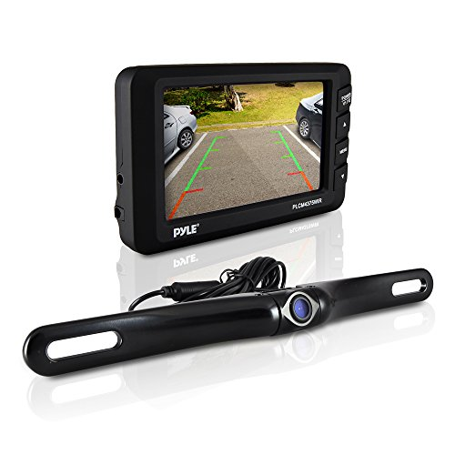 0068888758260 - PYLE WIRELESS BACKUP CAMERA KIT - REAR VIEW CAMERA AND 4.3 DASHBOARD MONITOR - FEATURES A LICENSE PLATE MOUNTED WEATHERPROOF ALUMINUM HOUSING WITH NIGHT VISION AND DISTANCE SCALE LINES FOR PARKING CARS HITCH BACKING - EASY INSTALLATION
