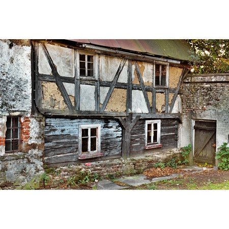 0689328935982 - LAMINATED POSTER HALF-TIMBERED WALL CRASH WATTLE AND DAUB BUILDING POSTER PRINT 24 X 36