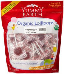 6935743515792 - YUMMY EARTH ORGANIC POMEGRANATE PUCKER LOLLIPOPS - 12.3 OZ
