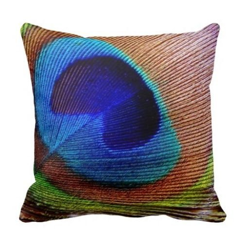 cctusgsh vivid peacock feather pattern cotton throw pillow c