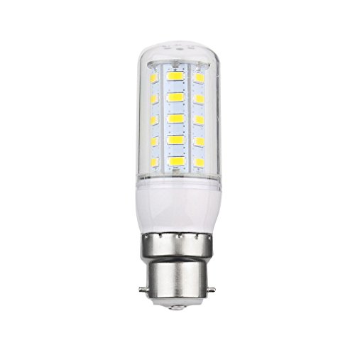 6952993684580 - ZHIGAO B22 7W 36 SMD5730 STRIP COVER SILVER SIDE LED CORN BULB PUFE WARM WHITE 240V UF WHITE