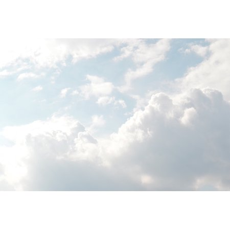 0696259829358 - CANVAS PRINT CLOUDY LIGHT CLOUDS SUNNY SKY NATURE WEATHER STRETCHED CANVAS 10 X 14