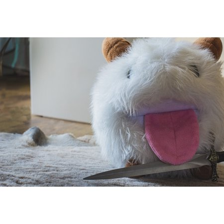 0696263723932 - CANVAS PRINT LEAGUE OF PORO COMPUTER ROOM PLUSH DAGGER GAME STRETCHED CANVAS 10 X 14