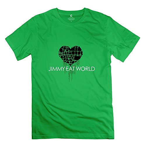 6983603112483 - CRYSTAL MEN'S JIMMY EAT WORLD UNIQUE DESIGN T-SHIRT FORESTGREEN US SIZE XL