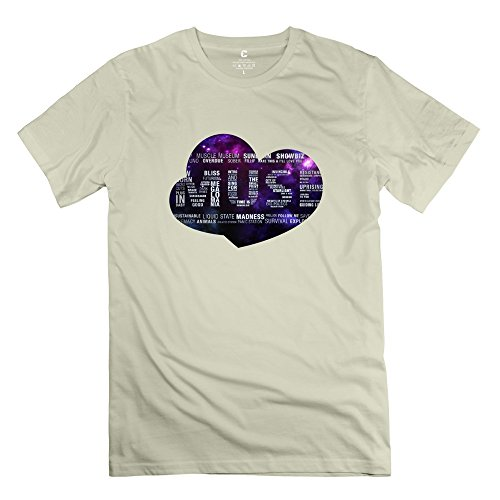 6983614877937 - CRYSTAL MEN'S MUSE BRAND DESIGN T-SHIRT NATURAL US SIZE XXL