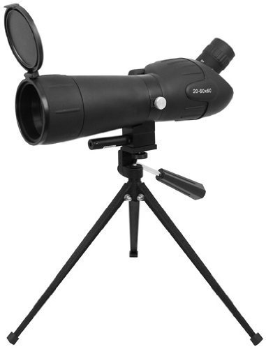 0699618831948 - 20-60 X 60 GREEN LENS RED LASER SPOTTING SCOPE WITH TRIPOD AND SUN SHADE FLIP COVER BY GOLDEN EYE TACTICAL