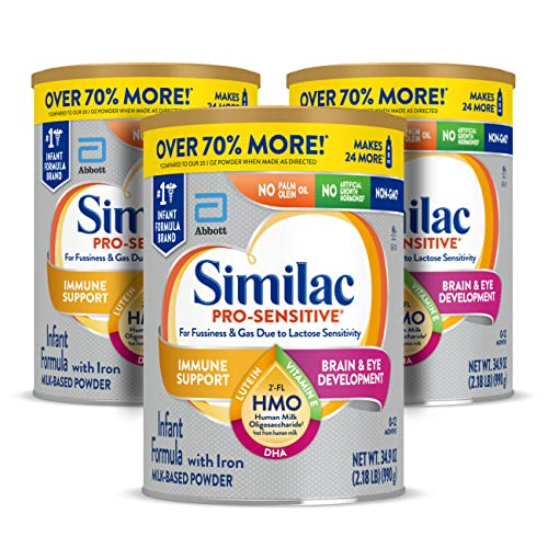 0070074668369 - SIMILAC PRO-SENSITIVE NON-GMO INFANT FORMULA WITH IRON, WITH 2'-FL HMO, FOR IMMUNE SUPPORT, BABY FORMULA, POWDER, 34.9 OZ, 3 COUNT (ONE-MONTH SUPPLY)