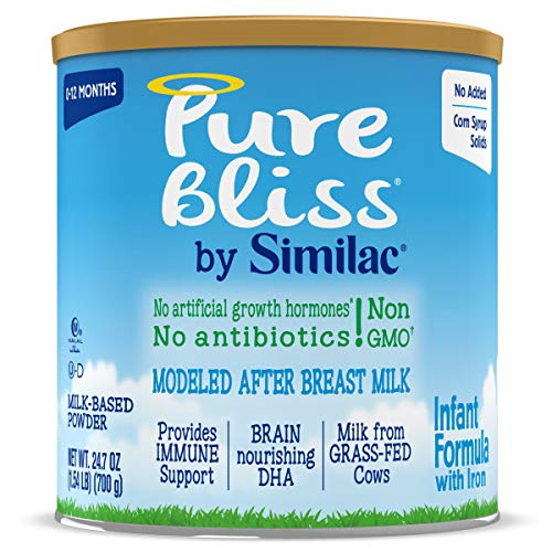 0070074673172 - PURE BLISS BY SIMILAC INFANT FORMULA, MODELED AFTER BREAST MILK, NON-GMO BABY FORMULA, 24.7 OUNCES, 4 COUNT