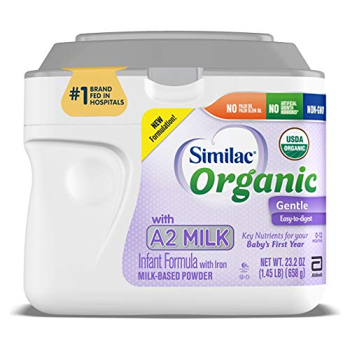 0070074677668 - SIMILAC ORGANIC WITH A2 MILK INFANT FORMULA, GENTLE AND EASY TO DIGEST, WITH KEY NUTRIENTS FOR BABY'S FIRST YEAR, NO PALM OLEIN OIL, NON-GMO BABY FORMULA POWDER, 23.2-OZ TUB