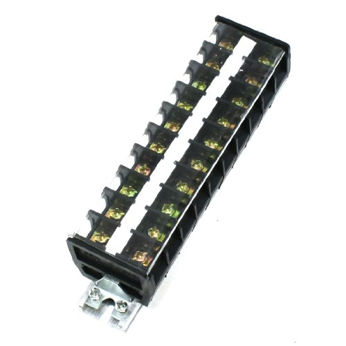 0700955521437 - UXCELL A13052800UX0515 660V 30A 2 ROWS 10 POSITIONS CLEAR COVERED SCREW TERMINAL BARRIER BLOCK