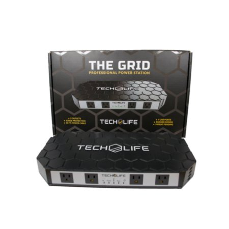 0701807915367 - THE GRID- THE MOST VERSATILE POWER STRIP SURGE PROTECTOR. RUGGED NON-SLIP EXTERIOR. BEST SURGE PROTECTOR FOR RV, THE SHOP, OFFICE, KITCHEN, ENTERTAINMENT SYSTEMS. HIGH CAPACITY POWER SURGE PROTECTOR