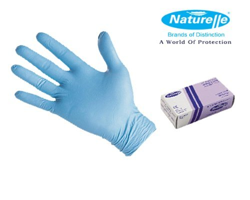 0702142452937 - NATURELLE SOFT DISPOSABLE XL BLUE NITRILE GLOVES POWDER FREE - EXTRA-LARGE (MEDICAL GRADE, AQL 1.5, LATEX FREE) BY NATURELLE