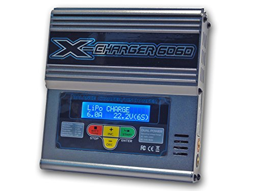 0702142980737 - GT POWER X-CHARGER B606D DUAL POWER (6AMPS, 50WATTS): LIPO, LIION, LIFE, NICD, NIMH AC/DC BALANCING BATTERY MULTI CHEMISTRY CHARGER W/ INTERNAL RESISTANCE TESTING