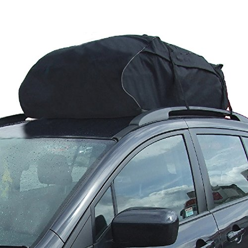 0702334350751 - TIROL WATER RESISTANT ROOF BAG 15 CUBIC FEET ROOF TOP CARGO CARRIER FOR VEHICLES WITH ROOF RAILS