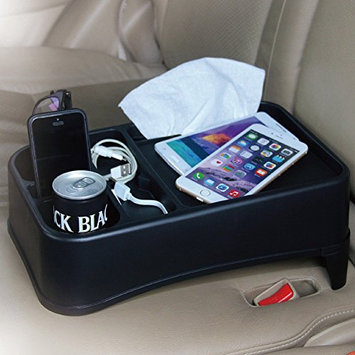 0702334351413 - TIROL® TRAVEL FOOD HOLDER AND TRAY CAR SEAT TRAY STAND ORGANIZER