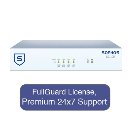 0702458679370 - SOPHOS SG 105 SECURITY APPLIANCE TOTALPROTECT BUNDLE WITH 4 GE PORTS, FULLGUARD LICENSE, PREMIUM 24X7 SUPPORT - 3 YEARS