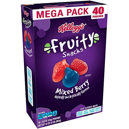 0703570153113 - FRUITY SNACKS, MIXED BERRY, GLUTEN FREE, FAT FREE, 32 OZ (40 POUCHES)