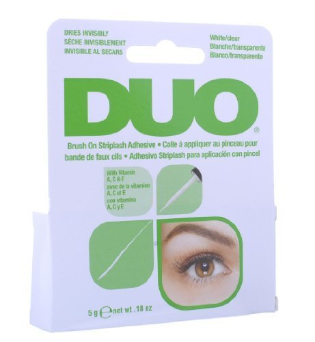 0706695776779 - DUO BRUSH ON STRIPLASH ADHESIVE WHITE/CLEAR 5G BY DUO