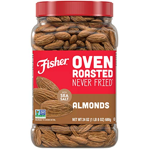 0070690270809 - FISHER SNACK OVEN ROASTED NEVER FRIED ALMONDS, 24 OZ, MADE WITH SEA SALT