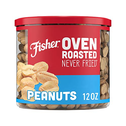 0070690275880 - FISHER SNACK, OVEN ROASTED NEVER FRIED, PEANUTS, MADE WITH SEA SALT, 12 OZ
