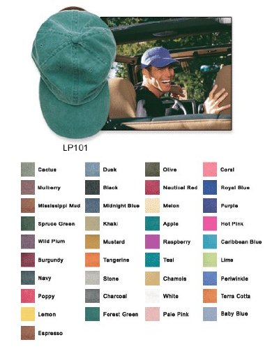 0707004449964 - ADAMS 6-PANEL LOW-PROFILE WASHED PIGMENT-DYED CAP, ONE SIZE, MIDNIGHT