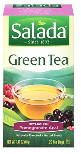 0707005228506 - SALADA GREEN TEA METABOLISM POMEGRANATE ACAI (20 TEABAGS / 1.41 OZ. BOX) (PACK OF 6 BOXES)