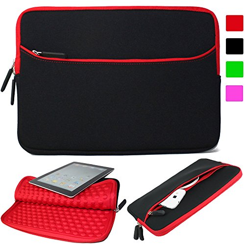 0707565809542 - LACDO 13-13.3INCH NEOPRENE ULTRABOOK LAPTOP SLEEVE CARRYING CASE BAG FOR APPLE MACBOOK PRO 13.3-INCH MACBOOK AIR ACER ASUS DELL HP CHROMEBOOK -RED