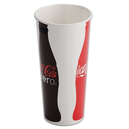 0710228520418 - MOVIE THEATER COKE DRINK CUPS W/LIDS & STRAWS 22OZ - 50CT