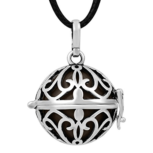 0710874269402 - EUDORA HARMONY BALL PENDANT NECKLACE BABY ANGEL CALLER SPHERE CHIME BELL LOCKET STERLING SILVER PREGNANCY NECKLACE
