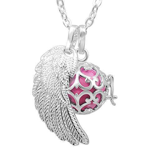 0710874295654 - EUDORA STERLING SILVER HARMONY BALL PREGNANCY CHIME BALL NECKLACE BABY SHOWER GIFT MATERNITY PENDANT