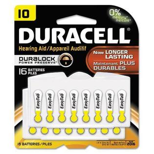 0711317461483 - DURACELL DA10B16ZM10 BUTTON CELL HEARING AID BATTERY, #10, 16/PK