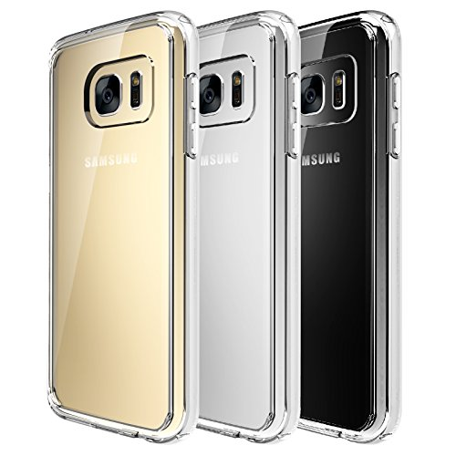 0712265186091 - GALAXY S7 CASE - QUIRKIO - TPU CRYSTAL CLEAR BACK SKIN TRANSPARENT SLIM RUBBER DUST PROOF DROP PROTECTION SHOCK ABSORPTION TECHNOLOGY FITTED COVER CASE FOR SAMSUNG GALAXY S7