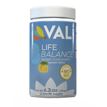 0714439705527 - MAGNESIUM VAL LIFE BALANCE ANTI-STRESS DRINK ON AMAZON | MADE WITH MAGNESIUM MIX 400MG GLYCINATE CITRATE CHELATE | HIGH ABSORPTION | PROMOTE DOPAMINE PRODUCTION | ORGANIC | LEMON | POWDER 6.3 OZ