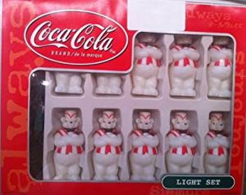 0715429202286 - VINTAGE COCA COLA BEARS CHRISTMAS TREE LIGHTS SET