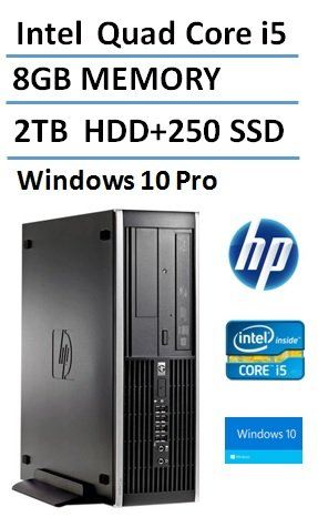 0717753021083 - 2016 NEW HP ELITE PRO SLIM BUSINESS DESKTOP COMPUTER SMALL FORM FACTOR (SFF) WITH INTEL QUAD-CORE I5 3.1GHZ, 8GB DDR3 RAM, 2TB HDD + 250GB SSD, DVD, WINDOWS 10 PROFESSIONAL (CERTIFIED REFURBISHED)
