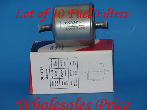 0718207760497 - (LOT OF 10) GF54794 FUEL FILTER FITS: FORD ISUZU JAGUAR MAZDA MERCEDES-BENZ MERCURY NISSAN RENAULT & VOLVO