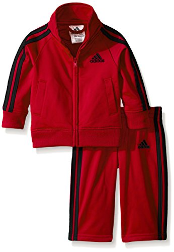 0721224784100 - ADIDAS BABY-BOYS ACTION TRICOT SET, LIGHT SCARLET, 24 MONTHS