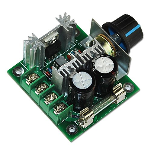 0721762901182 - RIORAND (TM) 12V-40V 10A PWM DC MOTOR SPEED CONTROLLER W/ KNOB--HIGH EFFICIENCY, HIGH TORQUE, LOW HEAT GENERATING WITH REVERSE POLARITY PROTECTION, HIGH CURRENT PROTECTION