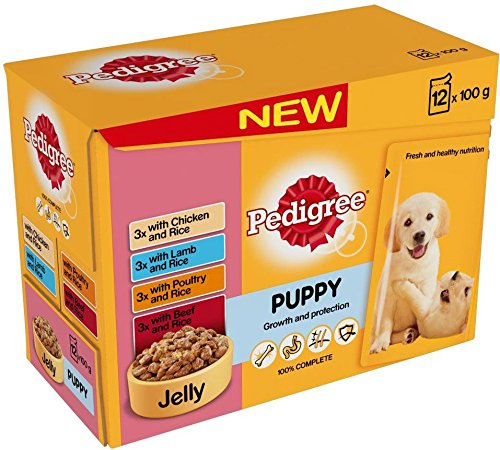 0721865116711 - PEDIGREE PUPPY CHUNKS IN JELLY SELECTION - POUCH (8X150G)