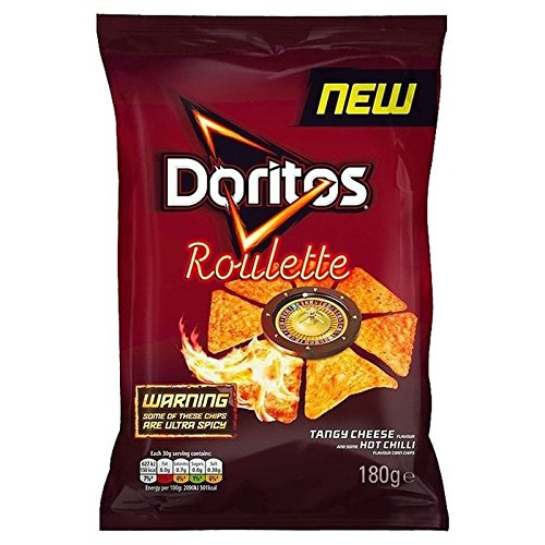 0721866009418 - DORITOS ROULETTE TANGY CHEESE & HOT CHILLI 180G - PACK OF 6