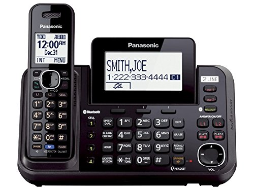 0722301865866 - PANASONIC KX-TG9541B LINK2CELL BLUETOOTH ENABLED 2-LINE PHONE WITH ANSWERING MACHINE & 1 CORDLESS HANDSET (CERTIFIED REFURBISHED)