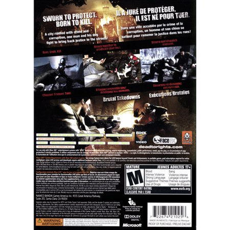 0722674210256 - DEAD TO RIGHTS RETRIBUTION XBOX 360 DVD